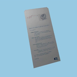 8pp plus flap roll fold Opm with tip on card