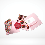 4pp Heart OPM and Tip on Heart Shaped Card CF296