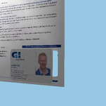 Digital A4 letter with integrated documagnetic card